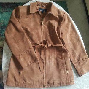 Jones New York Warm Brown Zip Safari Jacket M